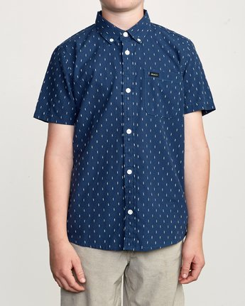 1 Boy's That'll Do Hi Grade II Shirt Blue B552URTH RVCA