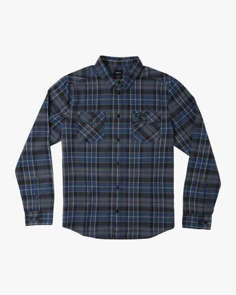0 Boy's Watt Flannel Shirt Blue B553TRWF RVCA