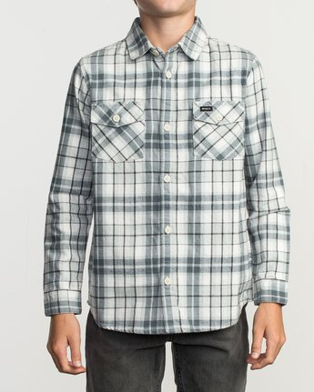 1 Boy's Watt Flannel Shirt Orange B553TRWF RVCA