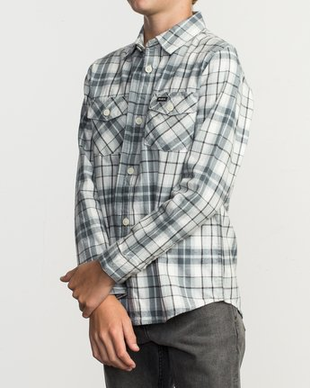 2 Boy's Watt Flannel Shirt Multicolor B553TRWF RVCA
