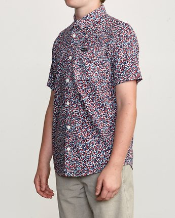 2 Boy's Revivalist Floral Button-Up Shirt White B556URRF RVCA