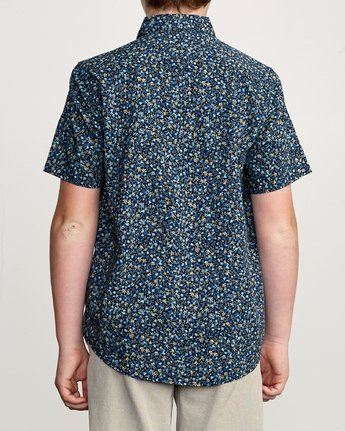 3 Boy's Revivalist Floral Button-Up Shirt Blue B556URRF RVCA