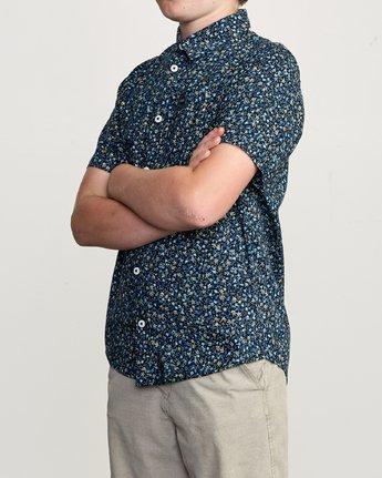 2 Boy's Revivalist Floral Button-Up Shirt Blue B556URRF RVCA