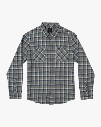 0 Boy's Hero Plaid Flannel  B557SRHE RVCA