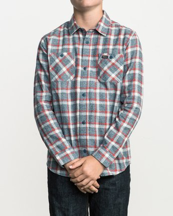 1 Boy's Hero Plaid Flannel  B557SRHE RVCA