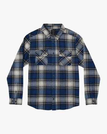 0 Boy's High Plains Plaid Flannel Blue B558SRHP RVCA
