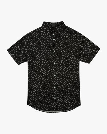 0 Boy's ANP Pack Button-Up Shirt Black B561URPP RVCA