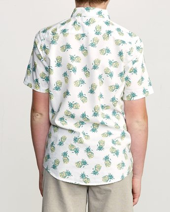 3 Boy's ANP Pack Button-Up Shirt White B561URPP RVCA