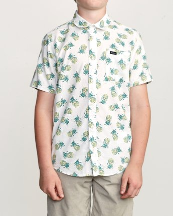 1 Boy's ANP Pack Button-Up Shirt White B561URPP RVCA