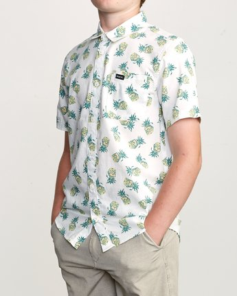 2 Boy's ANP Pack Button-Up Shirt White B561URPP RVCA