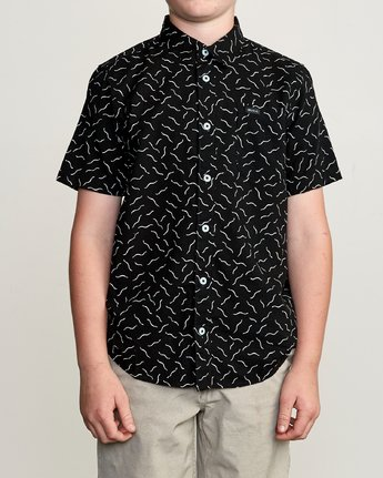 1 Boy's ANP Pack Button-Up Shirt Black B561URPP RVCA