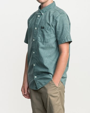 2 Boy's That'll Do Washed Button-Up Shirt  B592SRTR RVCA