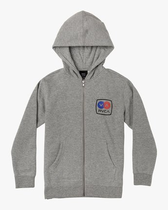0 Boy's Subway Zip-Up Hoodie Grey B604WRSU RVCA