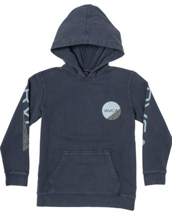 0 BOYS FRACTION HOODIE Blue B6093RFR RVCA