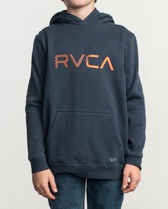 1 Boy's Scratched RVCA Hoodie Blue B624TRSC RVCA