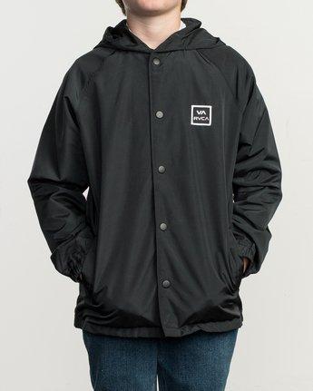 1 Boy's VA Hooded Coaches Jacket Black B701NRVA RVCA
