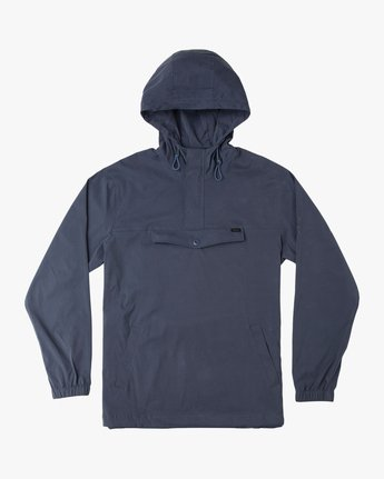 0 Boy's On Point Packable Anorak Jacket Blue B701TROP RVCA