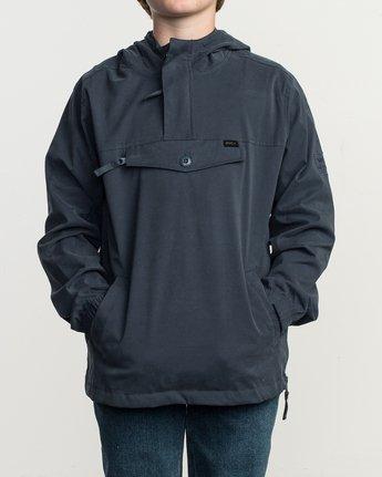 2 Boy's On Point Packable Anorak Jacket Blue B701TROP RVCA