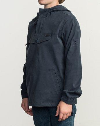 3 Boy's On Point Packable Anorak Jacket Blue B701TROP RVCA