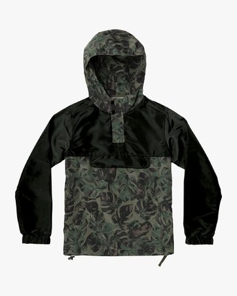 0 Boy's Killer Anorak Jacket Green B722VRKI RVCA