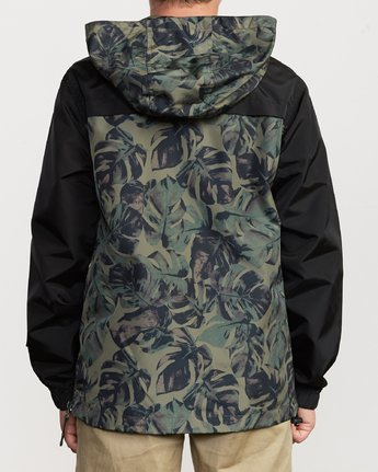 4 Boy's Killer Anorak Jacket Green B722VRKI RVCA