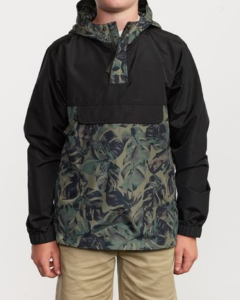 1 Boy's Killer Anorak Jacket Green B722VRKI RVCA