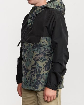 3 Boy's Killer Anorak Jacket Green B722VRKI RVCA
