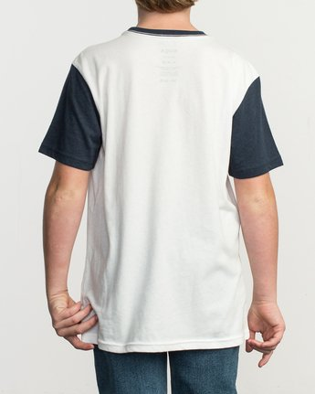 3 Boy's Pick Up II Knit Shirt White B902QRPU RVCA