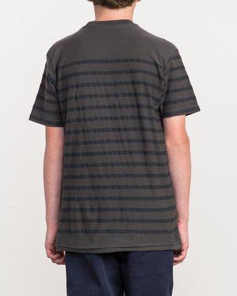 3 Boy's Dean Stripe Knit Shirt Black B904QRDS RVCA