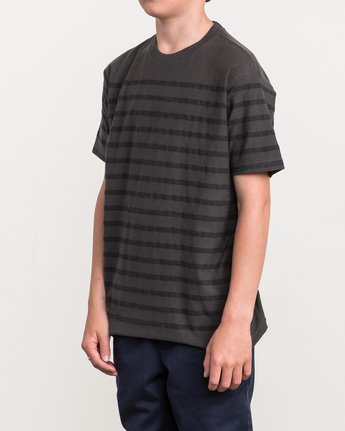2 Boy's Dean Stripe Knit Shirt Black B904QRDS RVCA