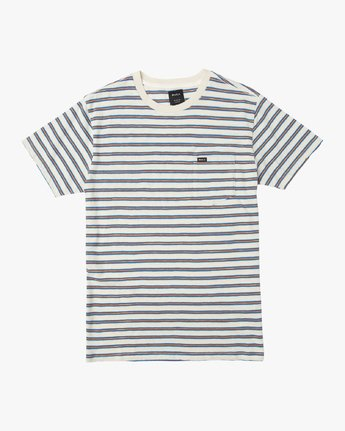 0 Boy's Vincent Stripe Pocket T-Shirt Silver B904URVS RVCA