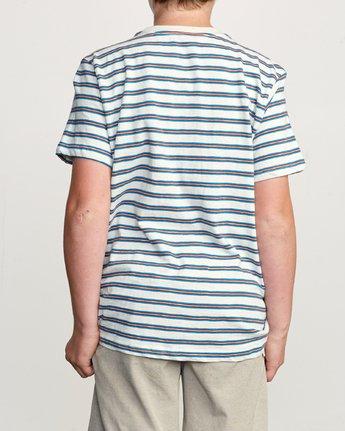 3 Boy's Vincent Stripe Pocket T-Shirt Silver B904URVS RVCA