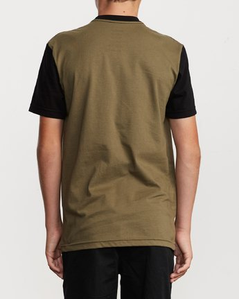 3 Boy's Ollie Color Block T-Shirt Green B905UROL RVCA