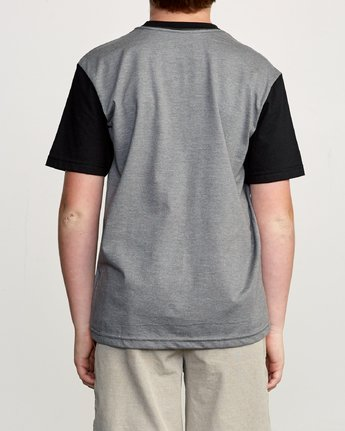 3 Boy's Ollie Color Block T-Shirt Grey B905UROL RVCA