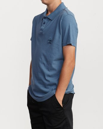 2 Boy's Delancy Polo Shirt Red B908VRPP RVCA