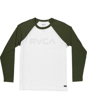 0 Boys Vale Raglan Long Sleeve T-Shirt White B911VRVA RVCA