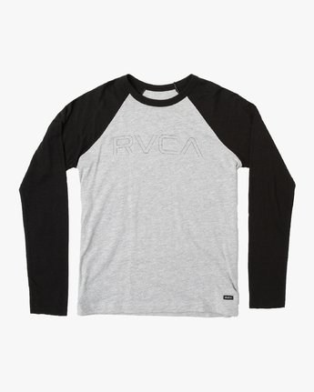 0 Boy's Vale Raglan Long Sleeve T-Shirt Grey B911VRVA RVCA