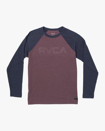 1 Boys Vale Raglan Long Sleeve T-Shirt Red B911VRVA RVCA