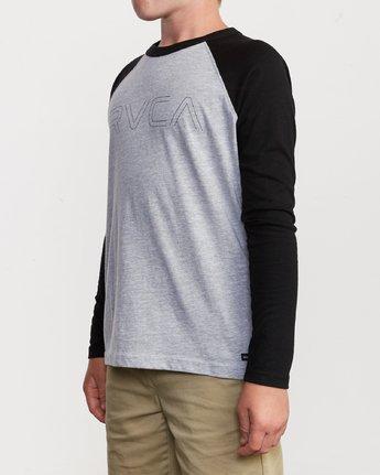 2 Boy's Vale Raglan Long Sleeve T-Shirt  B911VRVA RVCA