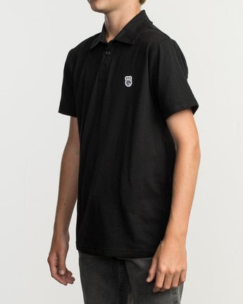 2 Boy's Sure Thing ANP Polo Shirt Black B915TRSU RVCA