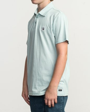 2 Boy's Sure Thing ANP Polo Shirt Blue B915TRSU RVCA