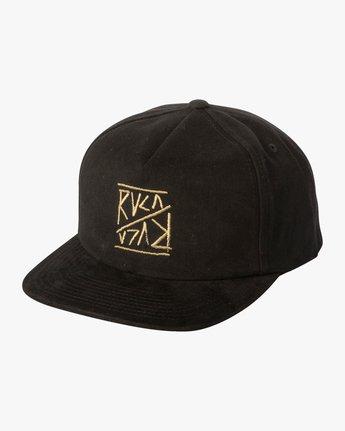 1 Boy's Slant Box Snapback Hat Black BAHWTRSL RVCA