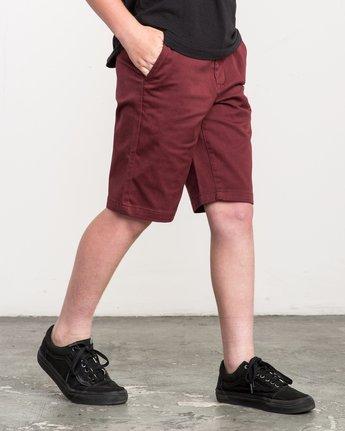 4 Boy's Weekday Stretch Shorts Red BC201WST RVCA