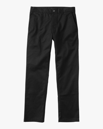 6 Boy's Weekday Stretch Pants Black BC301WDS RVCA