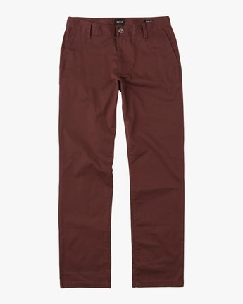 6 Boy's Weekday Stretch Pants Red BC301WDS RVCA