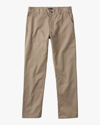 6 Boy's Weekday Stretch Pants Grey BC301WDS RVCA
