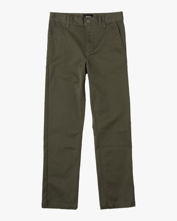 6 Boys WEEKDAY STRETCH straight fit PANT Green BC301WDS RVCA