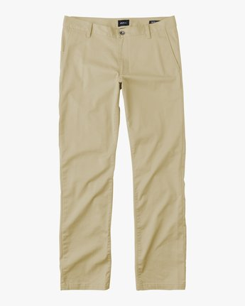 6 Boys WEEKDAY STRETCH straight fit PANT Beige BC301WDS RVCA