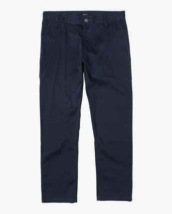 1 BOYS WEEKDAY STRAIGHT FIT STRETCH PANT Blue BC301WDS RVCA