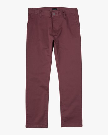 1 BOYS WEEKDAY STRAIGHT FIT STRETCH PANT Red BC301WDS RVCA